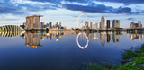 Fototapeta Londyn - Singapore skyline at night
