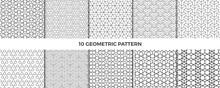 Set Of Geometric Patterns. Abstract Geometric Hexagonal Graphic Design Cubes Pattern. Geometric Cubes Pattern