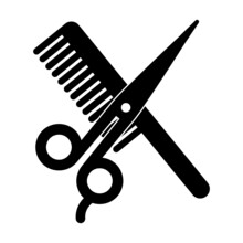 Grzebień I Nożyczki Ikona