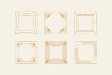 Vector Set Of Design Elements And Shapes For Abstract Backgrounds And Modern Art - Logo Design Templates, Frames, Photo Overlays And Stars