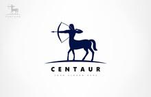 Centaur Archer Logo Vector. Mythological Creature Design.