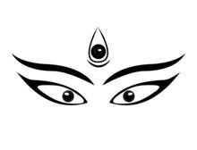Durga Eyes Line Art In Graphics