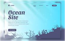 Landing Page Ocean Deep Water Web Template