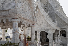 The Famous White Temple Wat Mingmuang In Nan