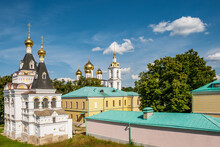 Two Ancient Churches Of The Elizabethan Church And The Assumption Cathedral In The Dmitrov Kremlin. Dmitrov.