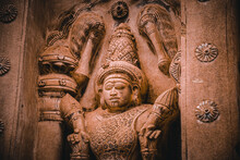 Beautiful Pallava Architecture And Exclusive Sculptures At The Kanchipuram Kailasanathar Temple, Oldest Hindu Temple In Kanchipuram, Tamil Nadu - One Of The Best Archeological Sites In South India