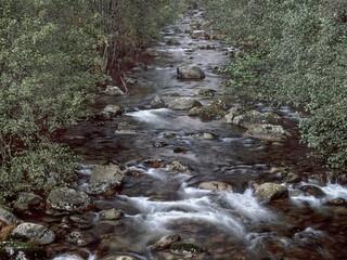 Remote mountain river