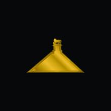 Belgium Gold Plated Metalic Icon Or Logo Vector