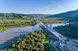 Nowy most na rzece dunajec w Kurowie, małopolska, Nowy Sącz