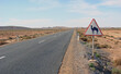Straßenschild mit Kamel