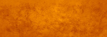 Orange Background, Halloween Fall Color, Old Grunge Texture, Vintage Painted Scratched Antique Orange Background, Textured Rusted Copper Metal Design, Painted Autumn Or Thanksgiving Wall Or Paper