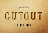 Cutout Text Effect Mockup