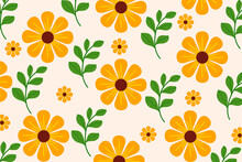 Beautiful Colorful Floral Pattern. Colorful Floral Wallpaper.