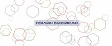 Abstract Seamless Colorful Hexagon Geometric Line On A Light Colored Background. Used For Background, Backdrop, Illustration, Wallpaper, Abstract Illustration.