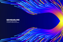 Flowing Colored Lines Converge To The Right The Abstract Graphic Background