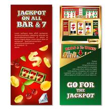 Slot Machine Vertical Banners