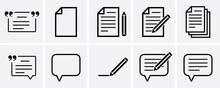 Write And Memo Icons Set