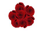 Bukiet róż z góry
