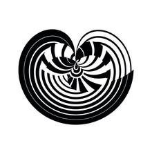 Abstract Sign, Symbol, Logo, Emblem, Icon, Geometric Pattern, Vector Modern Design Element.