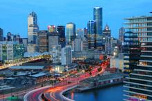Melbourne Skyline - City In Australia. Modern Architecture