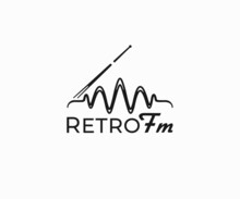 Retro Vintage Radio Receiver With Antenna Logo Design. Wireless Radio Station Vector Design. Retro Antenna With Voice Waves Logotype