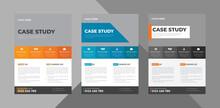 Case Study Flyer Design Template Bundle. Case Study Cover Poster Leaflet 3 In 1 Design. Bundle, 3 In 1, A4 Template, Brochure Design, Cover, Flyer, Poster, Print-ready