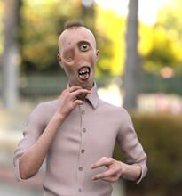 Severely Deformed Man