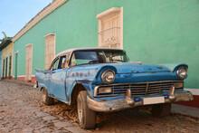 Vintage Chevy In UNESCO World Heritage Trinidad, Cuba