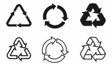 Recycling Icon Set. Recycle Symbol
