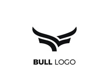 The Head Of Bull Logo. The Bull Logo Designs Template