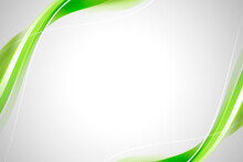 Green Curve Frame Template Vector