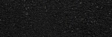 Panorama Of Rough Black Asphalt Surface Texture And Background Seamless