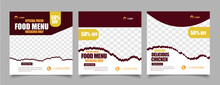 Food Menu And Restaurant Social Media Post Template