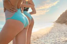 Beautiful Young Women On Sea Beach