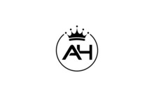 Simple And Creative Logo Design By AH Letter With Crown