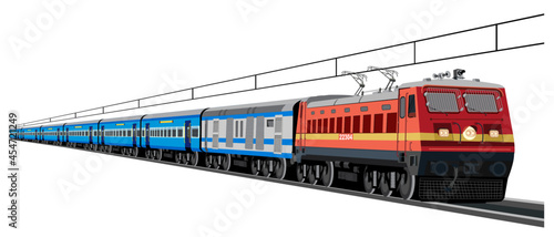 Obraz na plátně Illustration of Indian Train concept