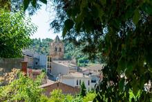 Alt Camp, Tarragona, Spain; August 30, 2021: Alt Camp Landscapes, Mountains, Grapes, Roads, And Rural Life. Vallbona Monastery Images.
