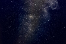 Beautiful Milky Way And Bright Stars In Dark Sky