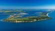 canvas print picture - Insel Hiddensee, Mecklenburg-Vorpommern, Deutschland, Luftaufnahme aus dem Flugzeug