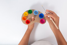 Ideas For The Recycling Caps, Tutorial, Quick Pallet For Painting Or Kids Playtime