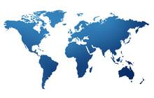 World Map Isolated Globe Isolated