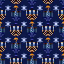 Happy Hanukkah Pattern 4