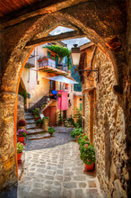 From The Village Of Luceram, Alpes-Maritimes, Provence, France