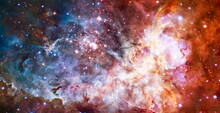 Nebula In Deep Space Many Light Years Far From Planet Earth. Elements Of This Image Furnished By NASA.