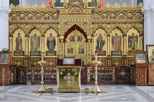Canvas Print altarpiece in the orthodox church