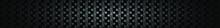 Dark Black Carbon Fiber Geometric Grid Background. Modern Dark Abstract Vector Square Texture.