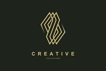 Letter S Luxury Gold Monogram Logo Design