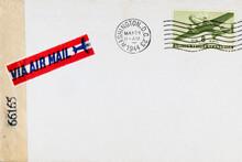 Luftpost Airmail Briefumschlag Envelope Vintage Retro Alt Old Papier Paper Gestempelt Frankiert Cancel Stamp Briefmarke Washington Usa Amerika America Flugzeug 1944