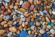 Colorful Beach Pebble Stones Perfect For Background