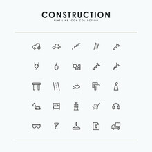 Building And Construction Line Icon